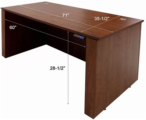 Office Desk Height by Adjustable Height Executive Office Desk In Cherry