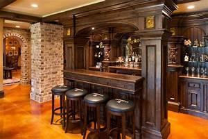 Elegant English Country Home - Traditional - Home Bar