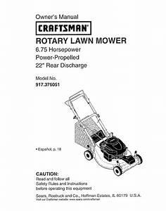 Craftsman 917376051 User Manual Mower Manuals And Guides