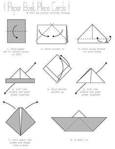 Origami Boat Outline by The Radical Folder Paper Folding With An Edge Cards