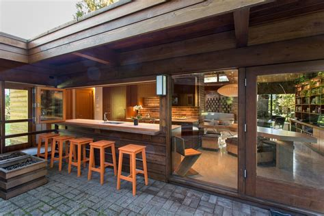Outside Patio Bar Ideas by Inside Outside Exterior Contemporary With Glass Extension