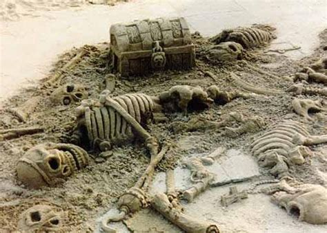 Pirate Skeletons Made From Sand Talk Like A Pirate Day