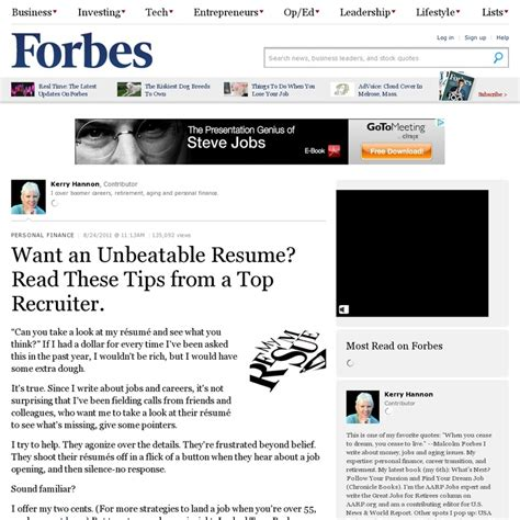 Forbes Article On Resumes by 23 Best Images About Resume Tips On Search