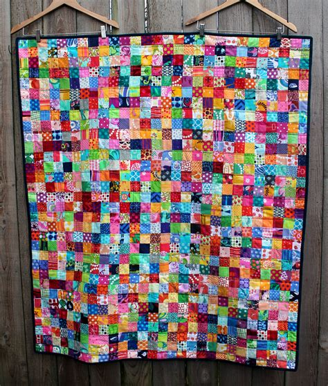 postage stamp quilt finished wombat quilts