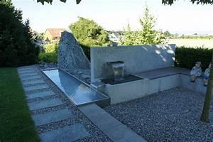 Beton Im Garten : brunnen spezial aus beton conma gartendesign ~ Markanthonyermac.com Haus und Dekorationen