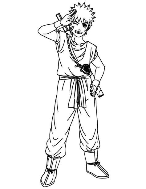 coloriage de naruto dessin ninja avec  kimono  colorier