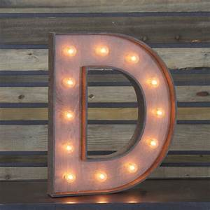 Edison marquee letter quotdquot town country event rentals for Marquee letter d