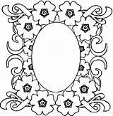Coloring Mirror Door sketch template