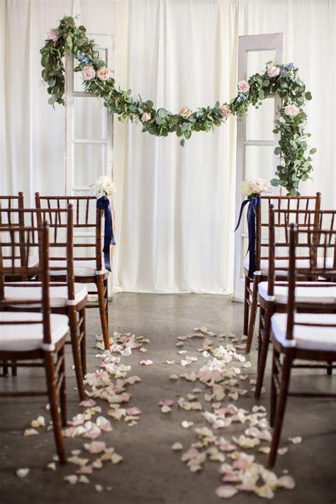 Silver Dollar Eucalyptus Garland Ceremony Wedding