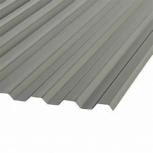 Panneau de polycarbonate ondulé Suntuf 8 pi Fumé Panneaux ondulés PVC Canac