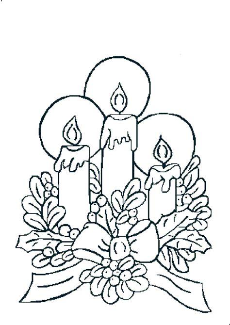 candela natalizia da colorare candele di natale