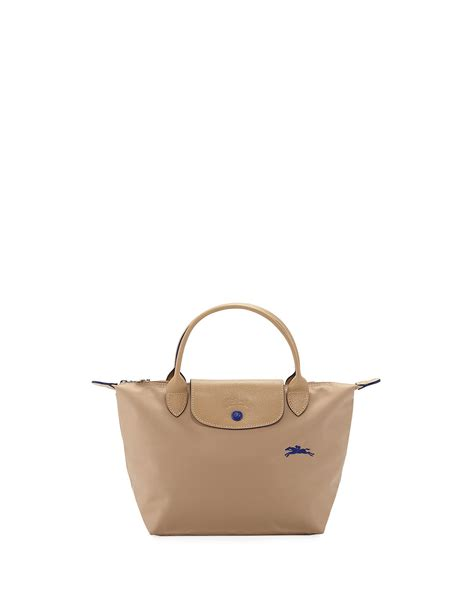 longchamp le pliage club small top handle tote bag neiman marcus