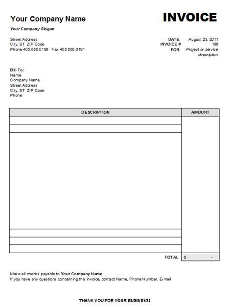 blank invoice template  create professional