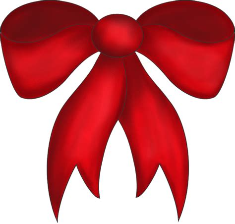 large red christmas bow transparent png and paint shop pro tube clipart best clipart best