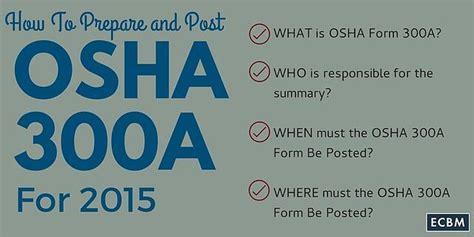 prepare  post osha form