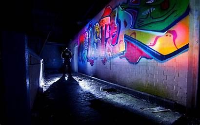 Brick Graffiti Wallpaperup Psychedelic Anarchy Urban Night