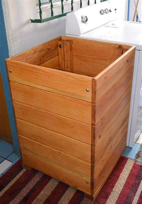 rustic wood laundry basket hamper  wooden laundry