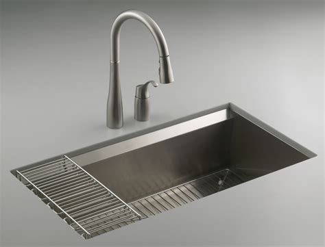 Kohler K3673na 8 Degree Large Single Kitchen Sink