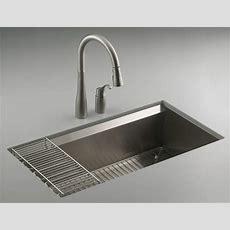 Kohler K3673na 8 Degree Large Single Kitchen Sink