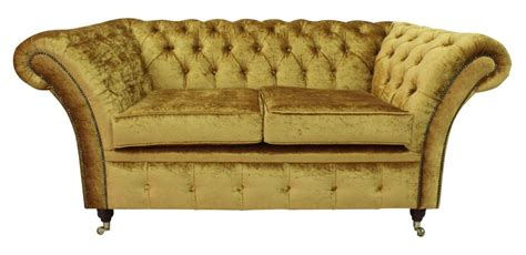 Gold Settee by Chesterfield Sofas Delivery Gold Fabric 12 Month