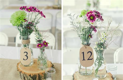 Barn Wedding Centerpieces : Decorations For A Rustic Wedding