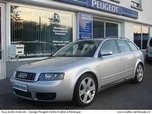 Audi S4 Avant Occasion : audi s4 avant v8 344 cv 2003 occasion auto audi s4 ~ Medecine-chirurgie-esthetiques.com Avis de Voitures