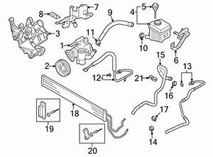 Audi Q7 Power Steering Pump Reservoir Bracket  3 0 Liter