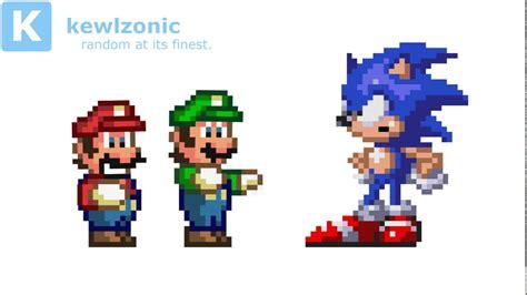 Mario & Luigi Rigged Sprites Test (voice Clip From Rick