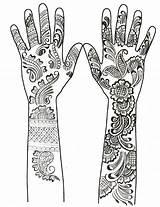 Coloring Mehndi Henna Hands Desenhos Tattoos Kleurplaten Disegni Arabic Colorare Tattoo Arabes Arabe Volwassenen Tatuaggi Adult Colorir Mehendi Wereld Arabische sketch template