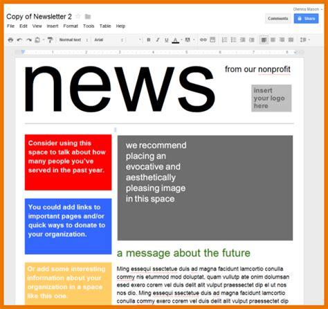 newsletter templates docs docs newsletter template business plan template