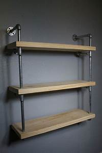 Wall, Mounted, Industrial, Pipe, Media, Shelving, Industrial, Furniture, Media, Shelf, Shelving, Unit