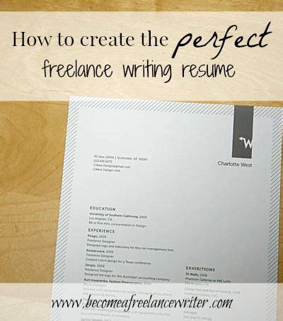 How To Become A Freelance Resume Writer by How To Create The Freelance Writing Resume To