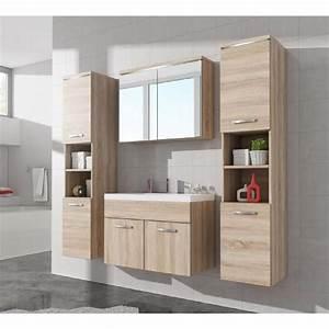meuble de salle de bain de paso xl 80x40cm bassin chene With meuble salle de bain delamaison