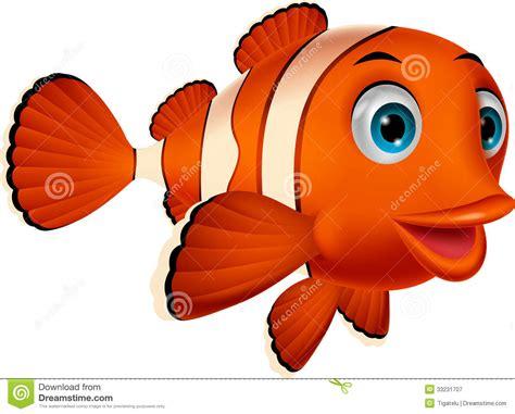 Cute Clown Fish Cartoon Stock Vector. Illustration Of Fish