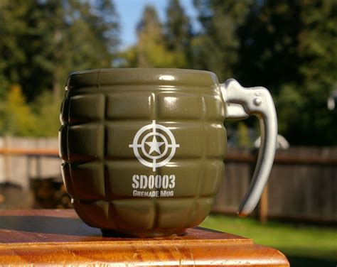 And 15 oz.) and are dishwasher and microwave safe! Details about Green SD0003 Grenade Shaped Coffee Mug by ...