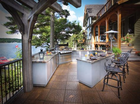 ideas for outdoor kitchens optimizing an outdoor kitchen layout hgtv
