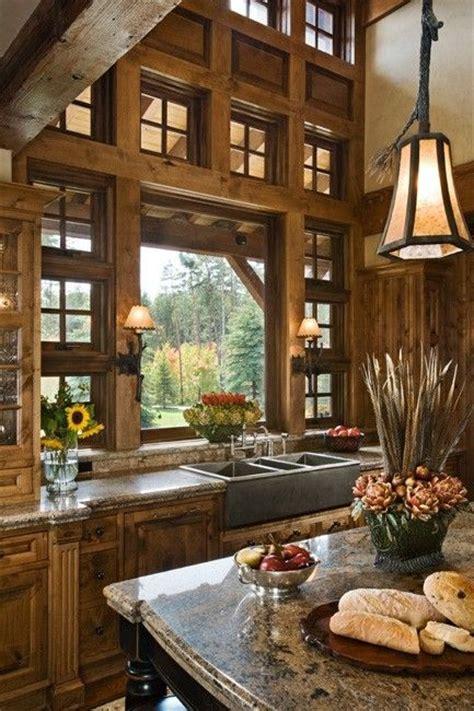 beautiful rustic kitchens pinterest