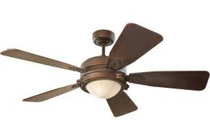 Vintage Industrial Ceiling Fan with Light by Monte Carlo