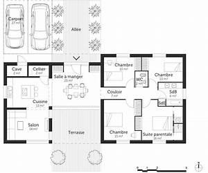 Plan Maison 4 Chambres Avec Suite Parentale : plan maison 120 m avec suite parentale ooreka ~ Melissatoandfro.com Idées de Décoration
