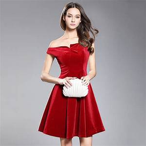 aliexpresscom buy off shoulder red velvet dress With robes sexies