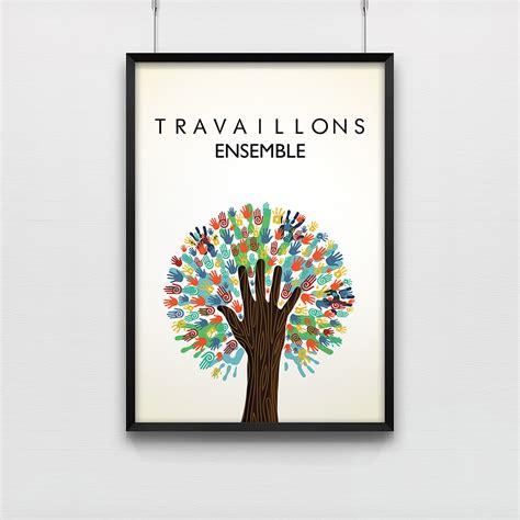 afficher m騁駮 sur bureau affiche pour salle de réunion travaillons ensemble kollori com