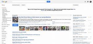 Was ist mit Google News passiert? Meldung auf der Google ...