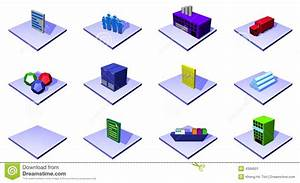 Distribution Supply Chain Diagram Objects And Symb Stock