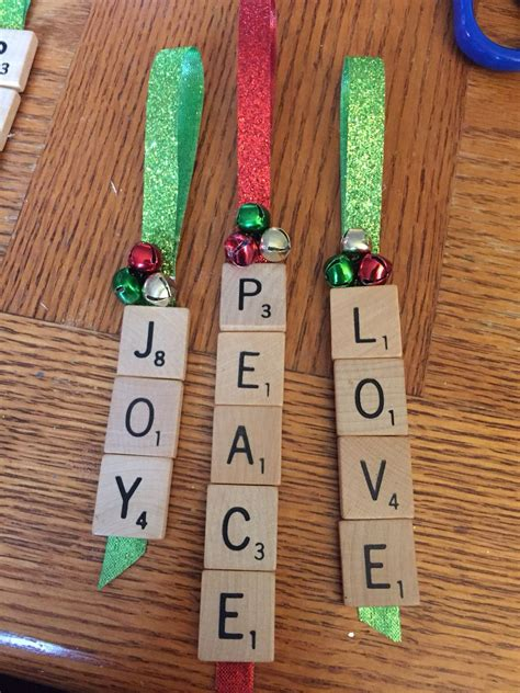 homemade scrabble ornaments christmas ornament crafts