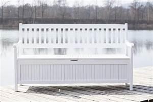 gartenbank mit truhe truhenbank eukalyptus weiss 4 sitzig With französischer balkon mit truhe garten