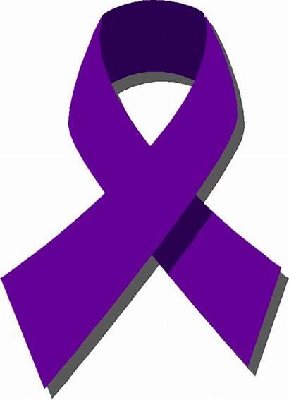 Ribbon Cancer Purple Clipart Violence Domestic Clip