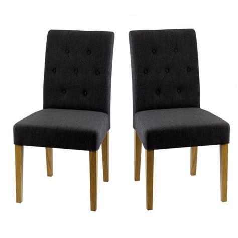 chaise salle a manger tissu chaise de salle à manger en bois et tissu anthr achat