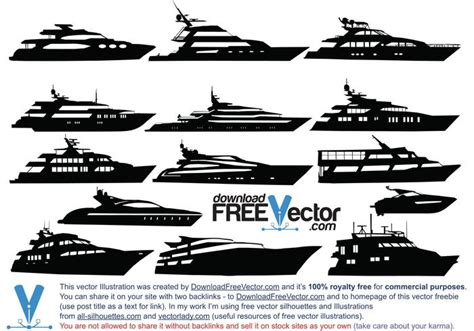 Yacht License by Vector Motor Yacht Free Vector Stock