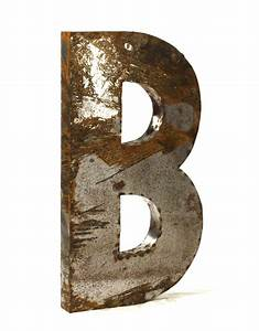 industrial rustic metal large letter b 36 inch kathy kuo With large metal letter b