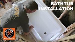 How To Install A Bathtub   Acrylic Kohler Archer  Step